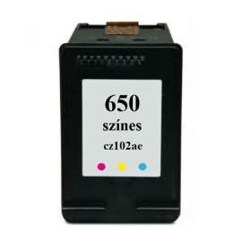 Hp 650 színes utángyártott tintapatron (Hp CZ102AE)