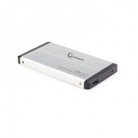"""Gembird 2.5"""" USB 3.0 SATA külső hdd ház mini usb, ezüst"""