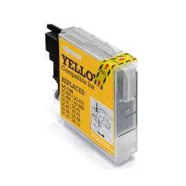 Brother LC1100 / LC980 sárga utángyártott tintapatron